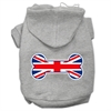 Mirage Pet Products Bone Shaped United Kingdom (Union Jack) Flag Screen Print Pet Hoodies Grey XXXL(20)