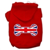 Mirage Pet Products Bone Shaped United Kingdom (Union Jack) Flag Screen Print Pet Hoodies Red Size M (12)