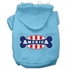 Mirage Pet Products Bonely in America Screen Print Pet Hoodies Baby Blue Size XS (8)