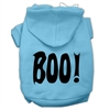 Mirage Pet Products BOO! Screen Print Pet Hoodies Baby Blue Size Med (12)