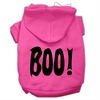 Mirage Pet Products BOO! Screen Print Pet Hoodies Bright Pink Size Med (12)