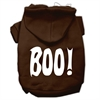 Mirage Pet Products Boo! Screen Print Pet Hoodies Brown Size Med (12)