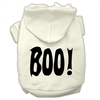 Mirage Pet Products BOO! Screen Print Pet Hoodies Cream Size XXL (18)