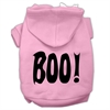 Mirage Pet Products BOO! Screen Print Pet Hoodies Light Pink Size Lg (14)