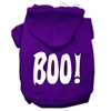 Mirage Pet Products BOO! Screen Print Pet Hoodies Purple Size Med (12)