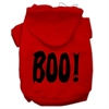Mirage Pet Products BOO! Screen Print Pet Hoodies Red Size Lg (14)