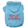 Mirage Pet Products Bringin' Sexy Back Screen Print Pet Hoodies Baby Blue Size Med (12)