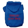 Mirage Pet Products Bringin' Sexy Back Screen Print Pet Hoodies Blue Size Med (12)