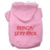 Mirage Pet Products Bringin' Sexy Back Screen Print Pet Hoodies Light Pink Size Med (12)