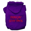 Mirage Pet Products Bringin' Sexy Back Screen Print Pet Hoodies Purple Size Sm (10)