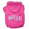 Mirage Pet Products Bully Screen Printed Pet Hoodies Bright Pink Size XS (8)