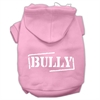 Mirage Pet Products Bully Screen Printed Pet Hoodies Light Pink Size Sm (10)