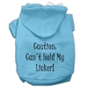 Mirage Pet Products Can't Hold My Licker Screen Print Pet Hoodies Baby Blue Size XL (16)