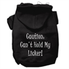 Mirage Pet Products Can't Hold My Licker Screen Print Pet Hoodies Black Size XS (8)