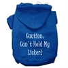 Mirage Pet Products Can't Hold My Licker Screen Print Pet Hoodies Blue Size Lg (14)