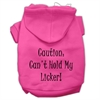 Mirage Pet Products Can't Hold My Licker Screen Print Pet Hoodies Bright Pink Size Sm (10)