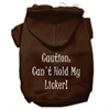 Mirage Pet Products Can't Hold My Licker Screen Print Pet Hoodies Brown Size XS (8)