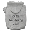 Mirage Pet Products Can't Hold My Licker Screen Print Pet Hoodies Grey Size XXXL (20)