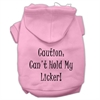Mirage Pet Products Can't Hold My Licker Screen Print Pet Hoodies Light Pink Size XS (8)