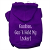 Mirage Pet Products Can't Hold My Licker Screen Print Pet Hoodies Purple Size Med (12)
