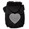 Mirage Pet Products Chevron Heart Screen Print Dog Pet Hoodies Black Size XL (16)