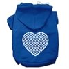 Mirage Pet Products Chevron Heart Screen Print Dog Pet Hoodies Blue Size Med (12)