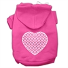 Mirage Pet Products Chevron Heart Screen Print Dog Pet Hoodies Bright Pink Size Sm (10)