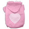 Mirage Pet Products Chevron Heart Screen Print Dog Pet Hoodies Light Pink Size XXXL (20)