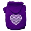 Mirage Pet Products Chevron Heart Screen Print Dog Pet Hoodies Purple Size Med (12)