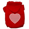 Mirage Pet Products Chevron Heart Screen Print Dog Pet Hoodies Red Size Sm (10)
