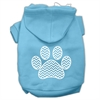 Mirage Pet Products Chevron Paw Screen Print Pet Hoodies Baby Blue Size Med (12)