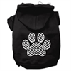 Mirage Pet Products Chevron Paw Screen Print Pet Hoodies Black Size XXL (18)