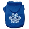 Mirage Pet Products Chevron Paw Screen Print Pet Hoodies Blue Size Sm (10)