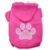 Mirage Pet Products Chevron Paw Screen Print Pet Hoodies Bright Pink Size Sm (10)