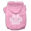 Mirage Pet Products Chevron Paw Screen Print Pet Hoodies Light Pink Size Med (12)