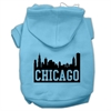Mirage Pet Products Chicago Skyline Screen Print Pet Hoodies Baby Blue Size Sm (10)