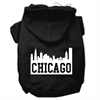 Mirage Pet Products Chicago Skyline Screen Print Pet Hoodies Black Size XL (16)