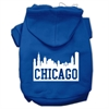 Mirage Pet Products Chicago Skyline Screen Print Pet Hoodies Blue Size Sm (10)