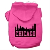 Mirage Pet Products Chicago Skyline Screen Print Pet Hoodies Bright Pink Size XS (8)