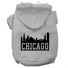 Mirage Pet Products Chicago Skyline Screen Print Pet Hoodies Grey Size XXL (18)