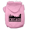 Mirage Pet Products Chicago Skyline Screen Print Pet Hoodies Light Pink Size Sm (10)