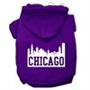 Mirage Pet Products Chicago Skyline Screen Print Pet Hoodies Purple Size XS (8)