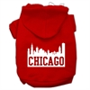 Mirage Pet Products Chicago Skyline Screen Print Pet Hoodies Red Size Sm (10)