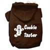Mirage Pet Products Cookie Taster Screen Print Pet Hoodies Brown Size Sm (10)