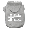 Mirage Pet Products Cookie Taster Screen Print Pet Hoodies Grey Size XS (8)
