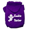 Mirage Pet Products Cookie Taster Screen Print Pet Hoodies Purple Size Lg (14)