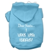 Mirage Pet Products Dear Santa I Went with Naughty Screen Print Pet Hoodies Baby Blue Size Sm (10)