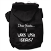 Mirage Pet Products Dear Santa I Went with Naughty Screen Print Pet Hoodies Black Size Lg (14)