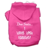 Mirage Pet Products Dear Santa I Went with Naughty Screen Print Pet Hoodies Bright Pink Size XS (8)