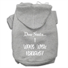 Mirage Pet Products Dear Santa I Went with Naughty Screen Print Pet Hoodies Grey Size XL (16)